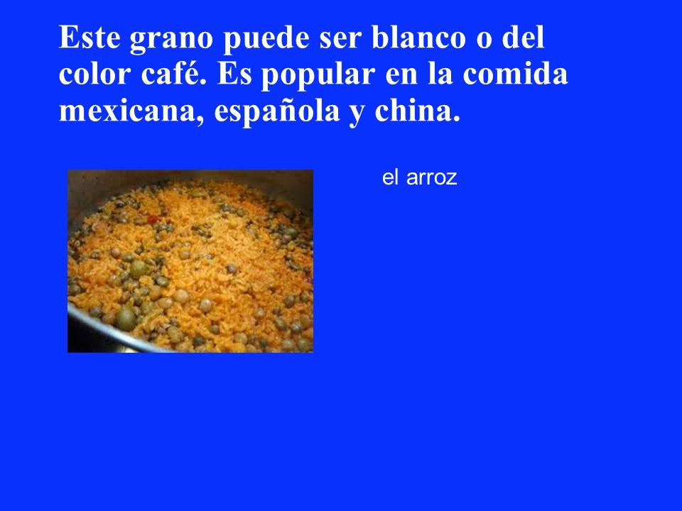 Este grano puede ser blanco o del color café. Es popular en la comida mexicana, española y china. el arroz