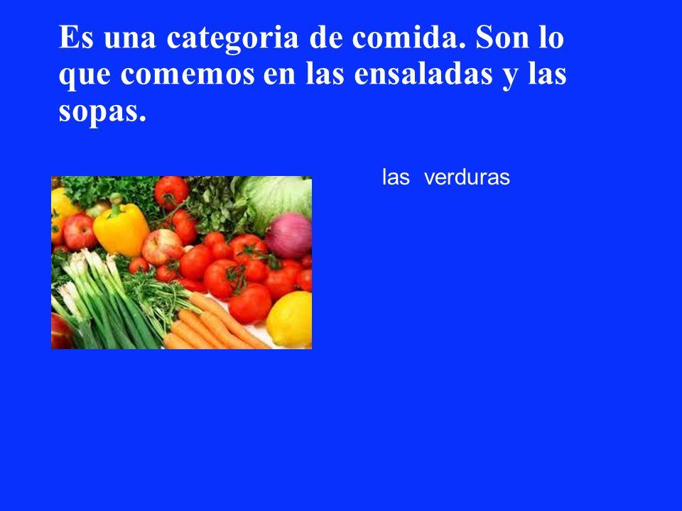 Es una categoria de comida. Son lo que comemos en las ensaladas y las sopas. las verduras