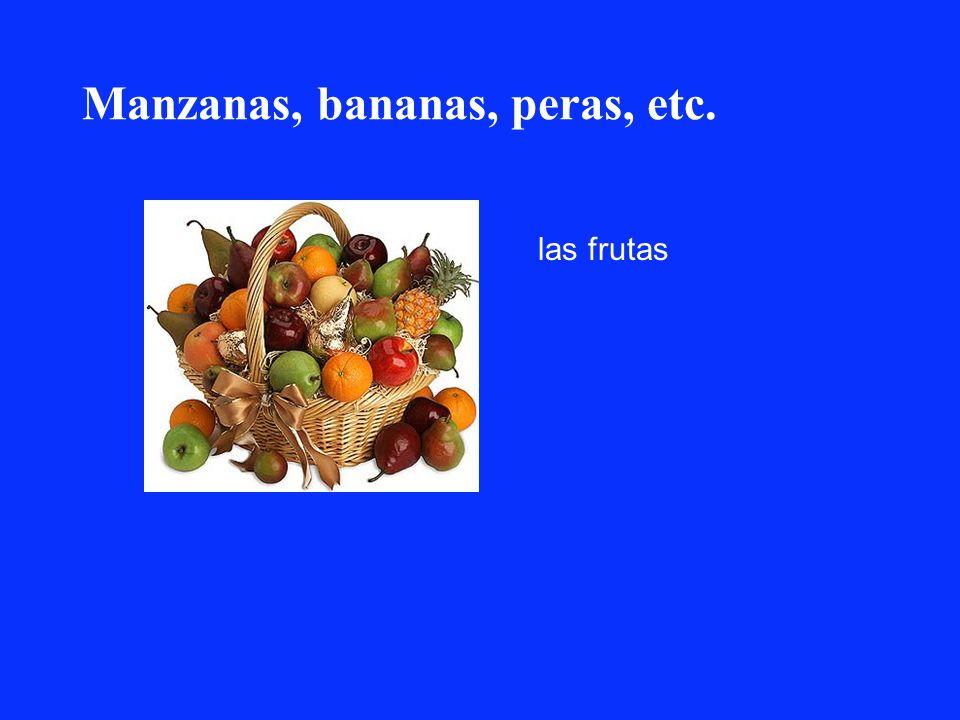 Manzanas, bananas, peras, etc. las frutas