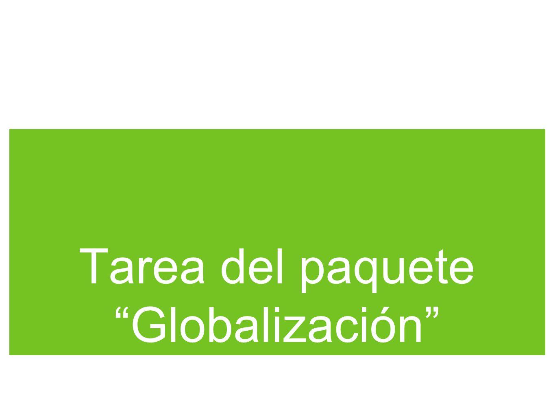 Tarea del paquete Globalización