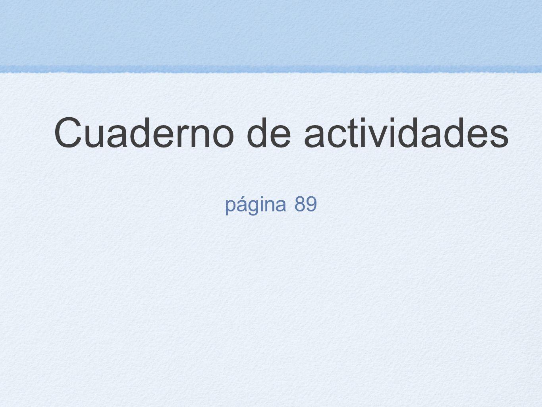 Cuaderno de actividades página 89