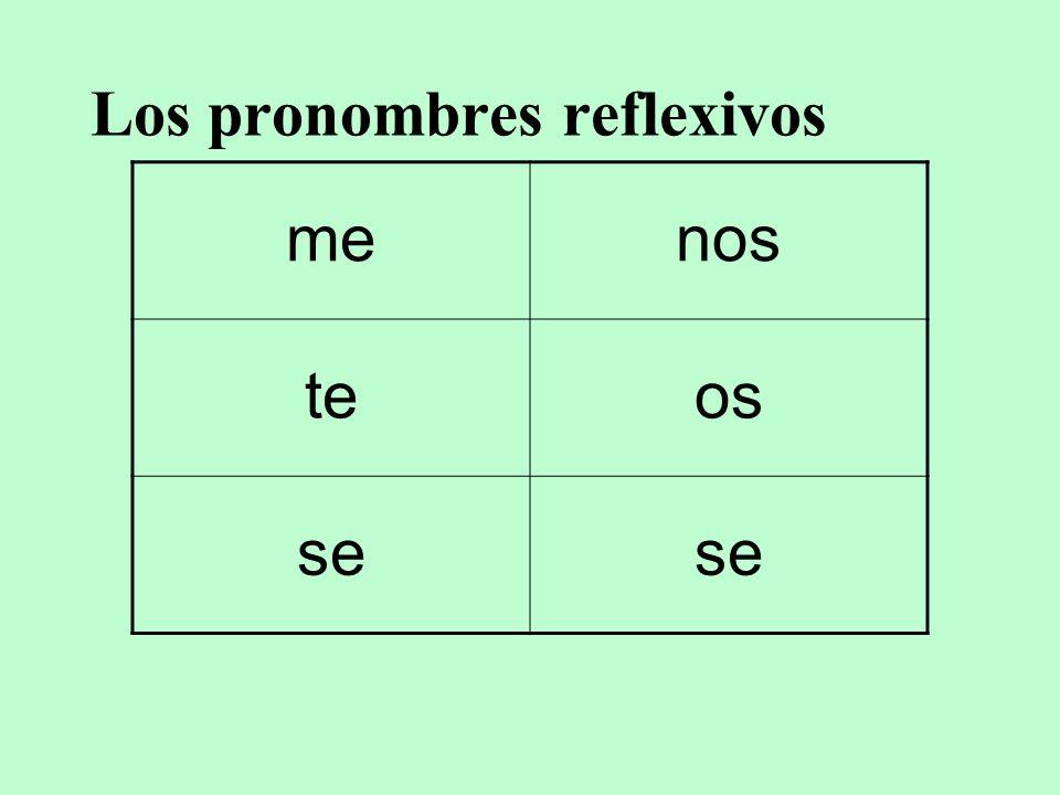Los pronombres reflexivos menos teos se