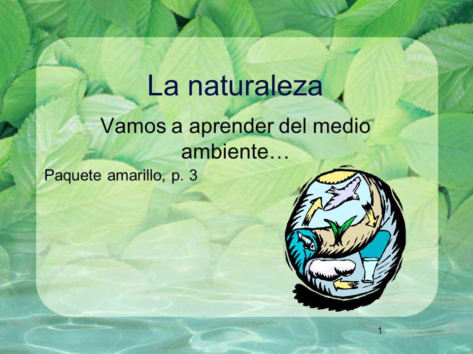 1 La naturaleza Vamos a aprender del medio ambiente… Paquete amarillo, p. 3
