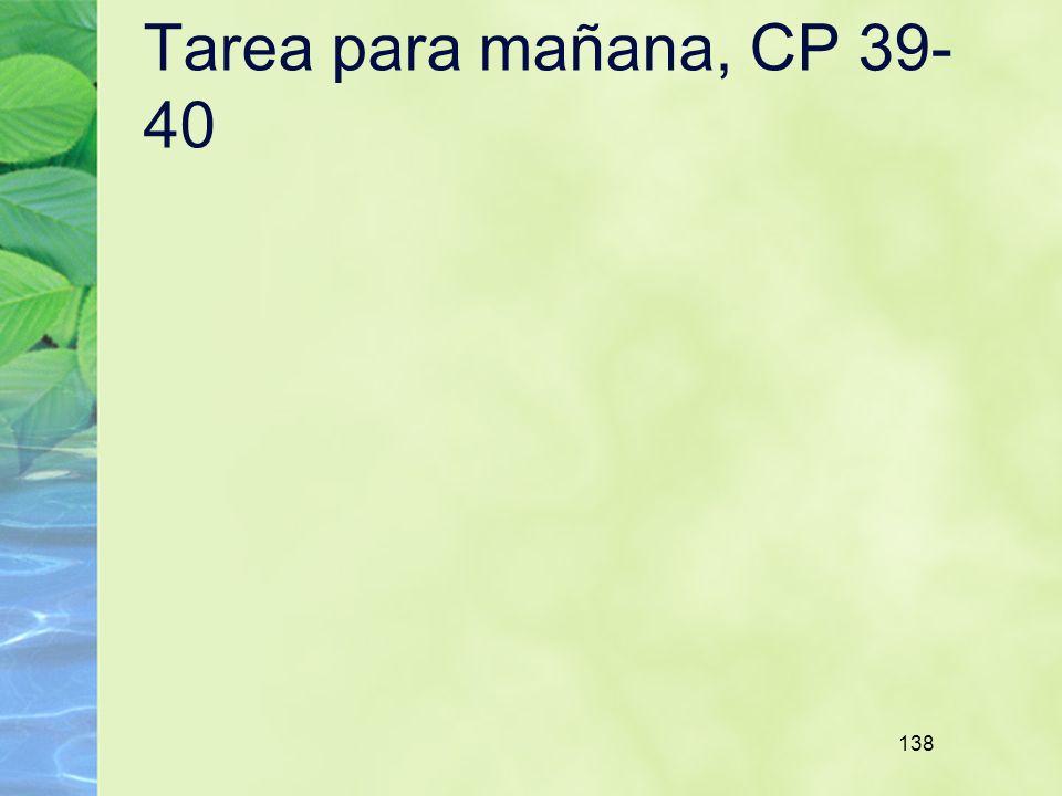 138 Tarea para mañana, CP 39- 40