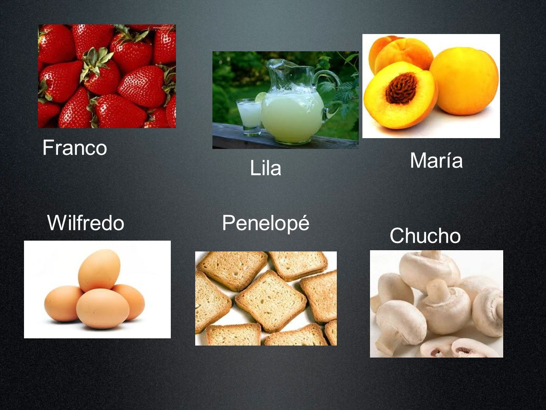 Franco Lila María WilfredoPenelopé Chucho