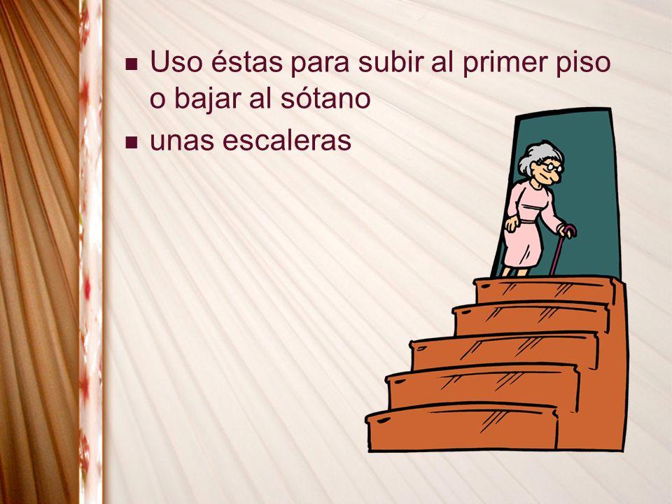 unas escaleras