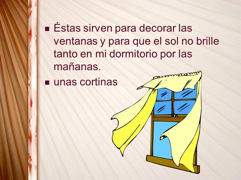 unas cortinas