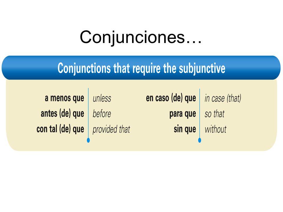 Conjunciones…