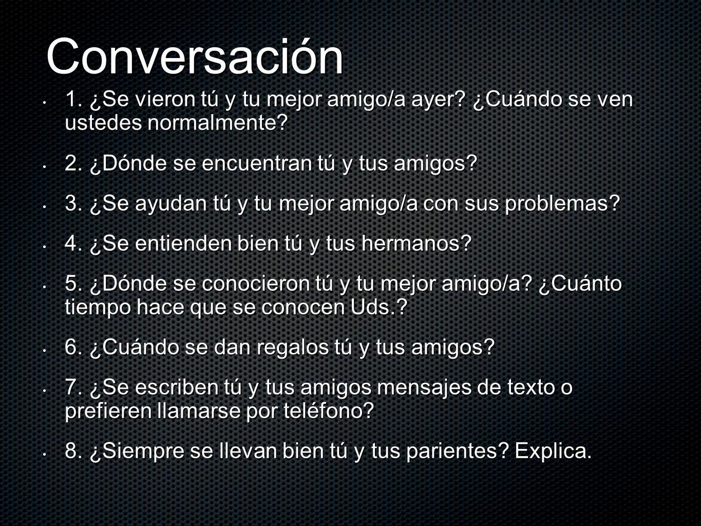 Recípricos reflexivos = each other ¿Cómo se dice….