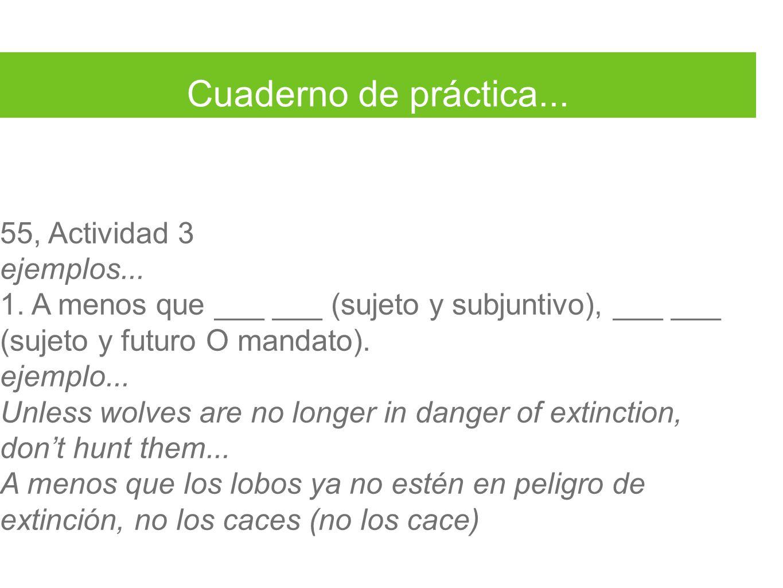 Cuaderno de práctica...55, Actividad 3 ejemplos...