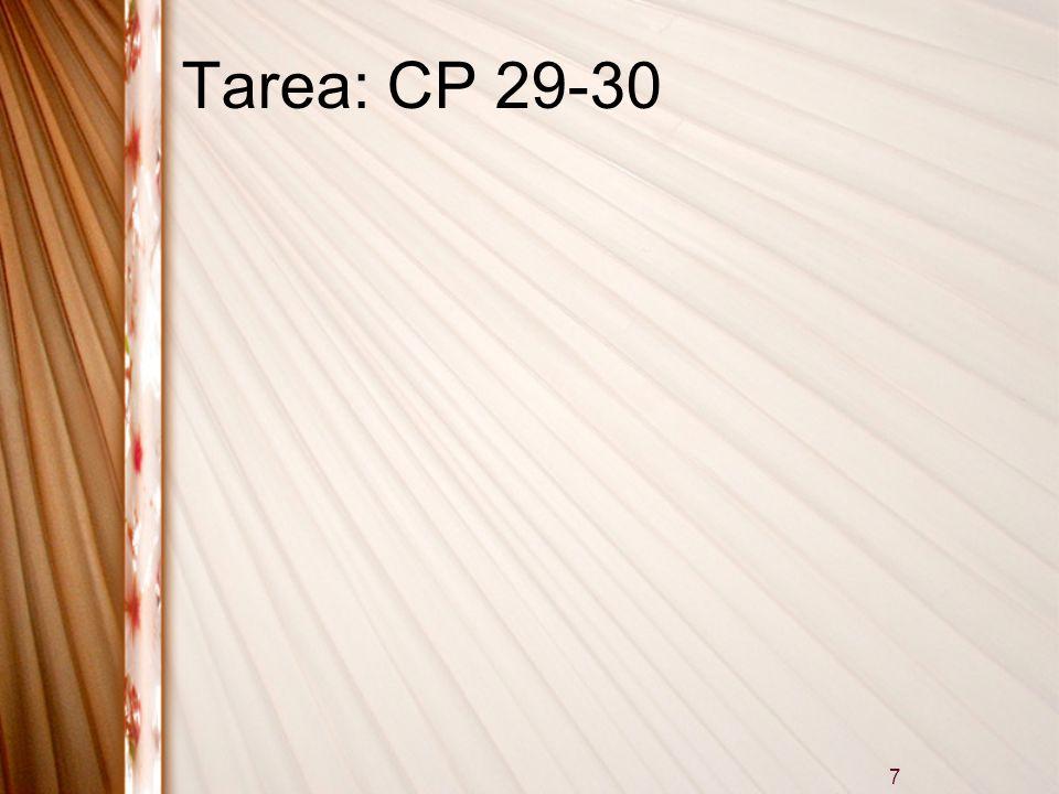 7 Tarea: CP 29-30