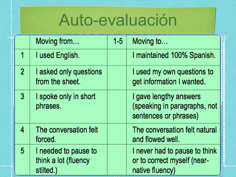 Auto-evaluación