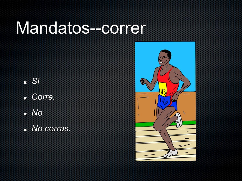 Mandatos--correr SíCorre.No No corras.
