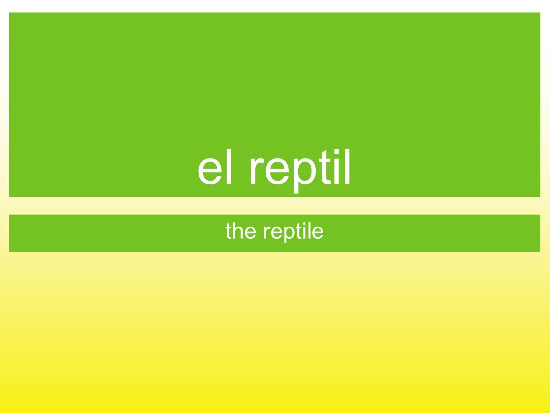 el reptil the reptile