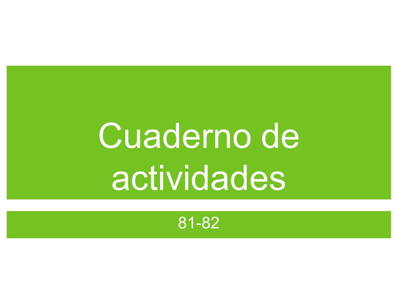 Cuaderno de actividades 81-82