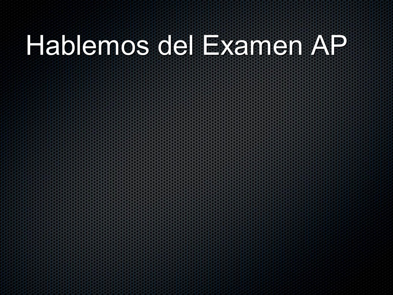 Examen de AP Lenguaje