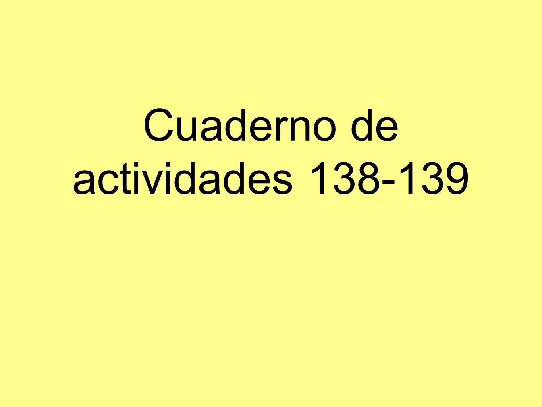 Cuaderno de actividades 138-139