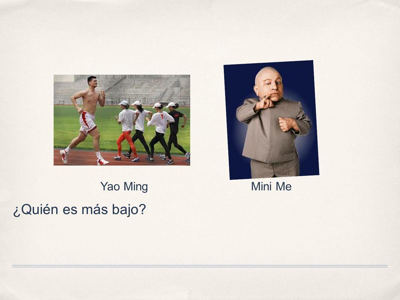 ¿Quién es más bajo? Yao MingMini Me