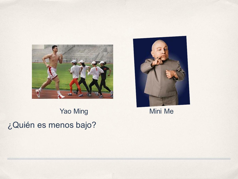 ¿Quién es menos bajo? Yao MingMini Me
