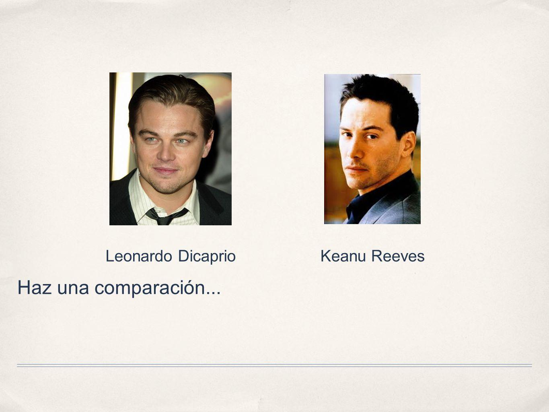 Haz una comparación... Leonardo DicaprioKeanu Reeves
