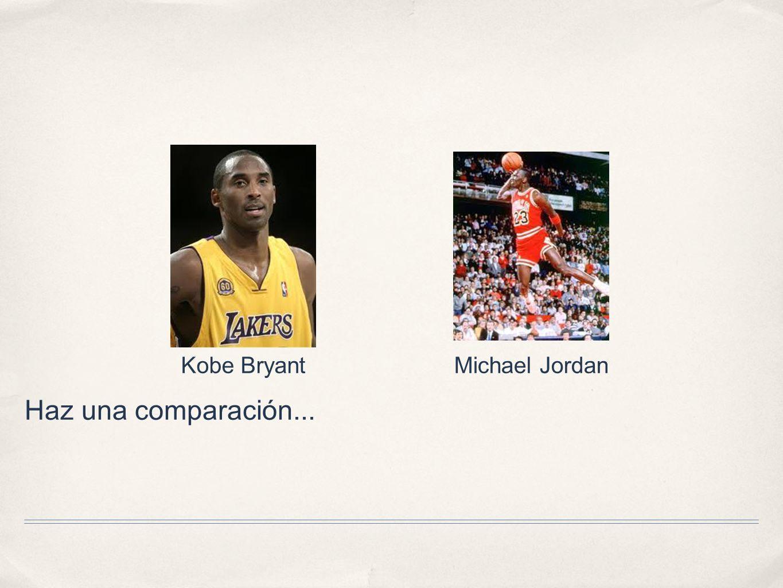 Haz una comparación... Kobe BryantMichael Jordan