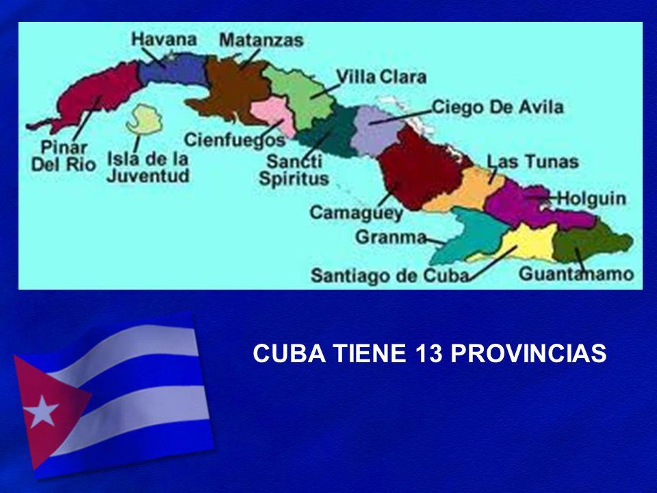 CUBA TIENE 13 PROVINCIAS