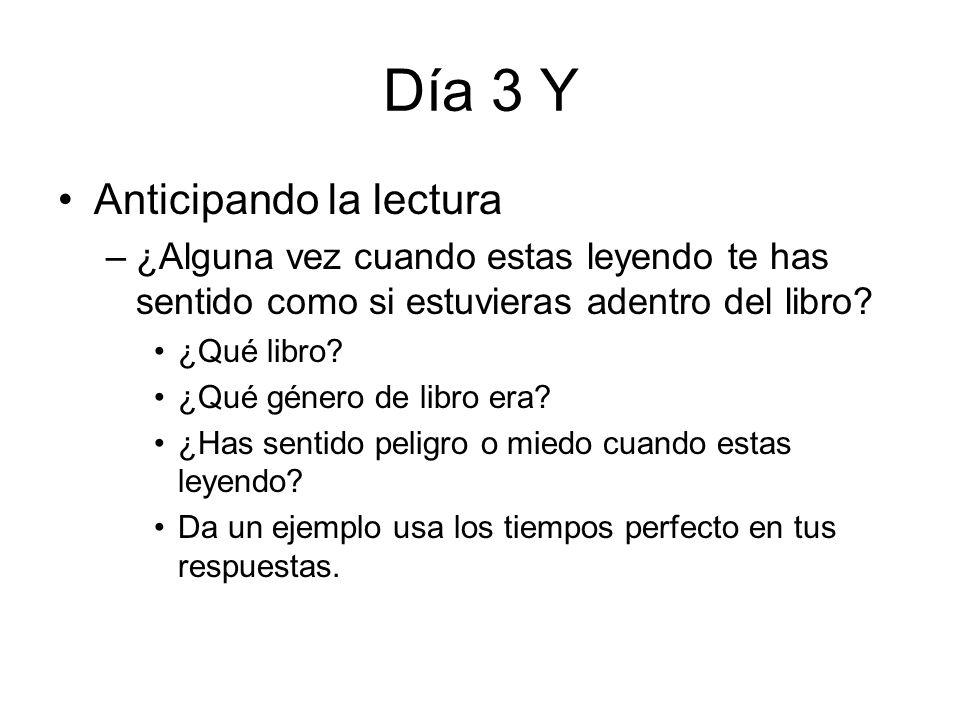 Día 3 Y Terminar notas de Argentina, añade notas de cuento de Cortázar Repasar Tarea Escribir definiciones de realismo mágico En grupos de 2 contesten Actividad B nu.