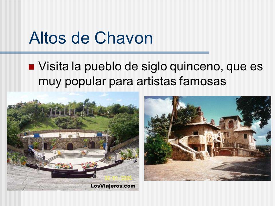 Altos de Chavon Visita la pueblo de siglo quinceno, que es muy popular para artistas famosas