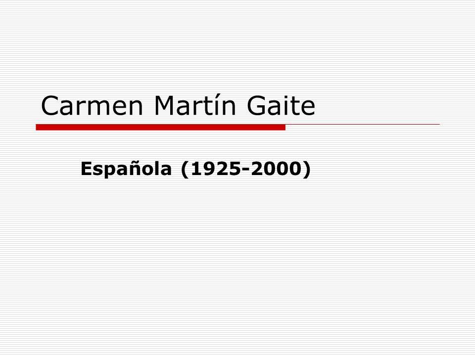 Datos biográficos Fue niña durante la Guerra Civil Española (1936-1939) Empezó a publicar seriamente durante los años cincuenta Es miembro del grupo literario La generación de los cincuenta Nació en Salamanca donde vivió hasta terminar la universidad
