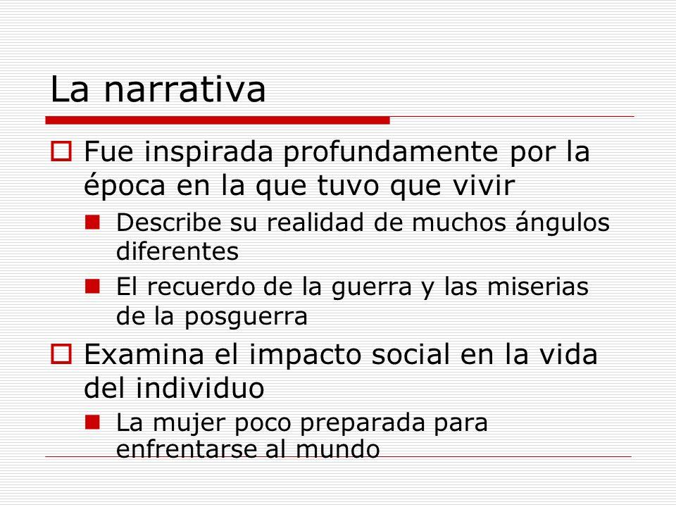 Temas La mujer en la sociedad española El impacto social en la vida del individuo El contraste entre el pueblo y la ciudad El deseo de escapar lo que nos ata El miedo a la libertad La falta de la comunicación