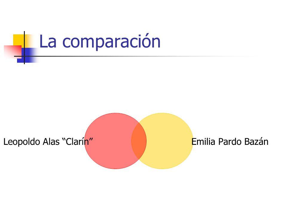 La comparación Leopoldo Alas Clarín Emilia Pardo Bazán