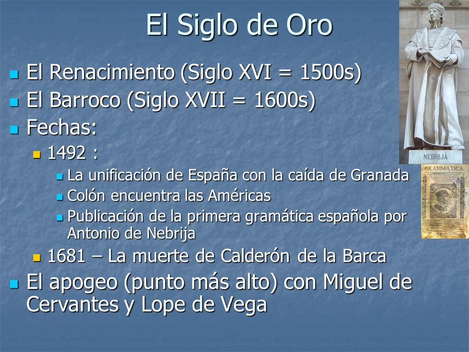 Miguel de Cervantes Lope de Vega
