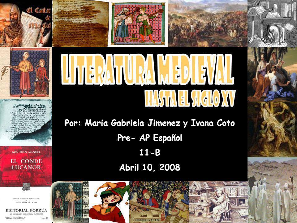 Por: Maria Gabriela Jimenez y Ivana Coto Pre- AP Español 11-B Abril 10, 2008