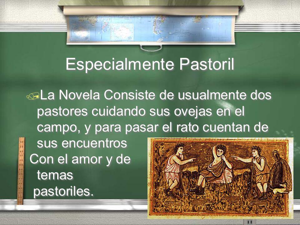 Especialmente Pastoril La Novela Consiste de usualmente dos pastores cuidando sus ovejas en el campo, y para pasar el rato cuentan de sus encuentros C