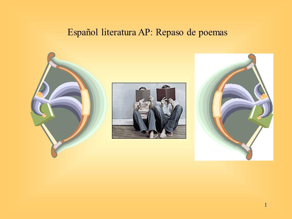 1 Español literatura AP: Repaso de poemas