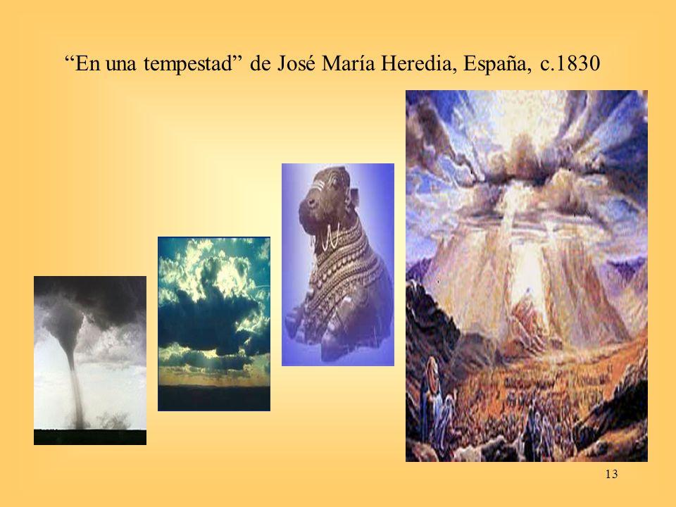 13 En una tempestad de José María Heredia, España, c.1830