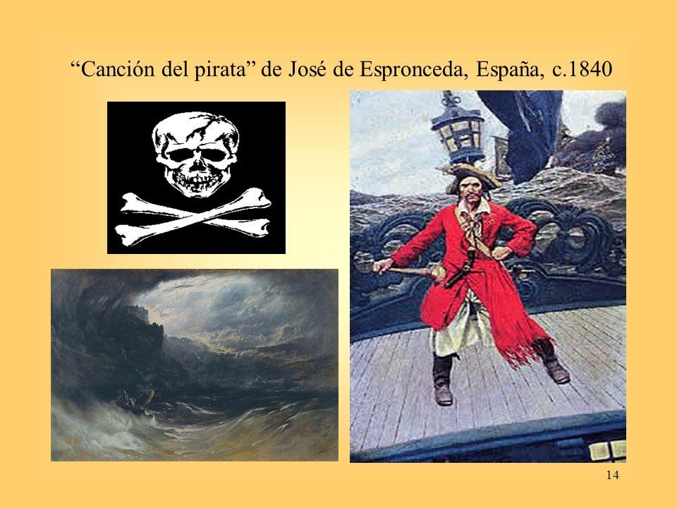 14 Canción del pirata de José de Espronceda, España, c.1840