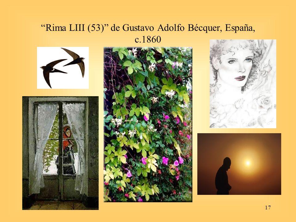 17 Rima LIII (53) de Gustavo Adolfo Bécquer, España, c.1860
