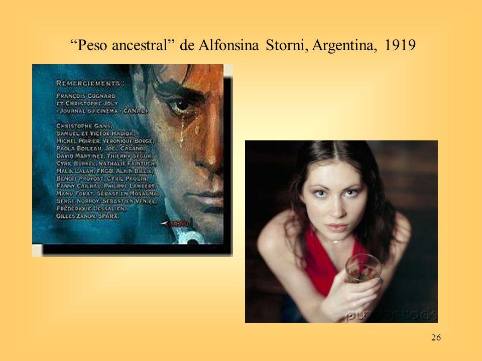 26 Peso ancestral de Alfonsina Storni, Argentina, 1919