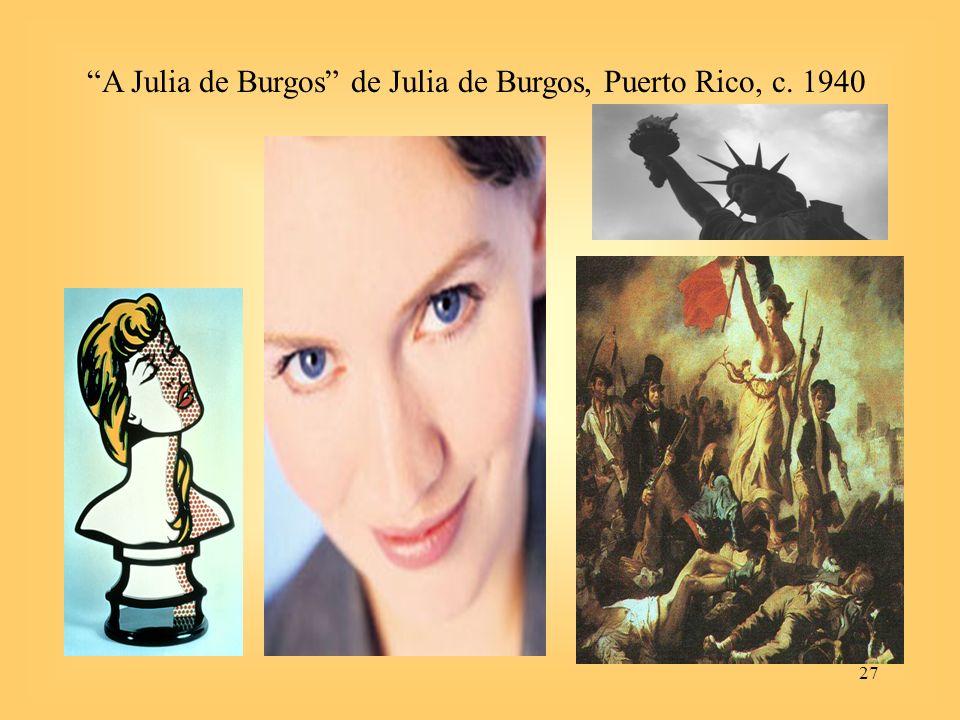 27 A Julia de Burgos de Julia de Burgos, Puerto Rico, c. 1940