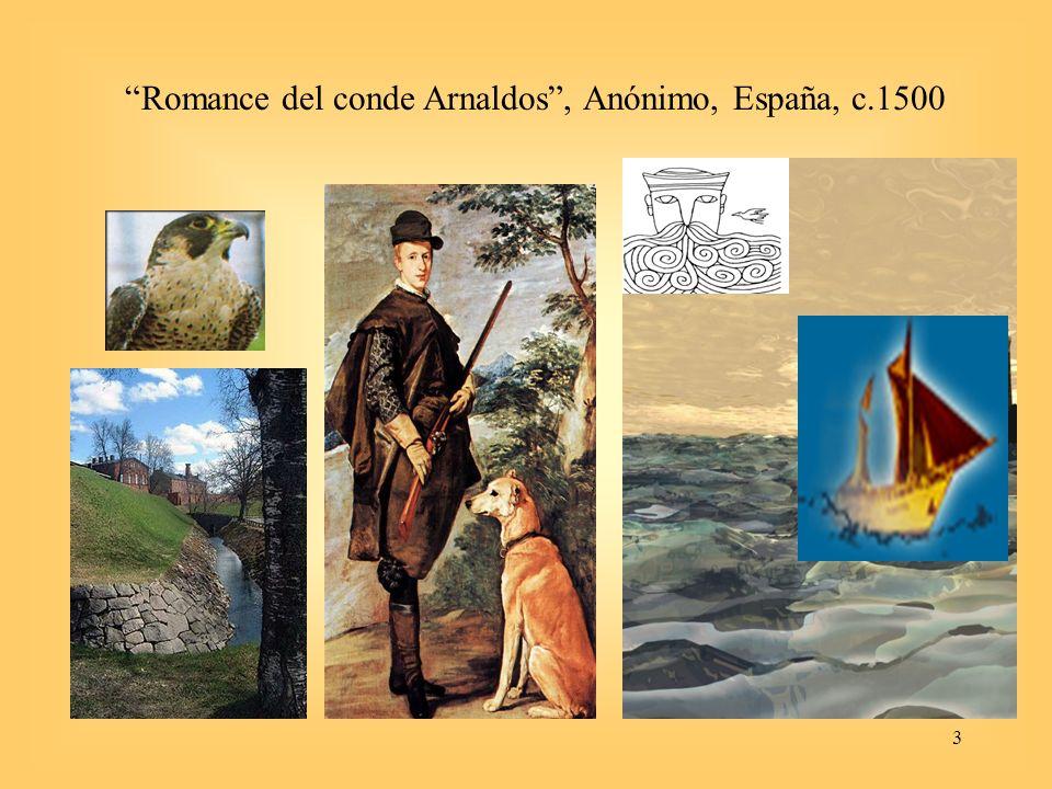 3 Romance del conde Arnaldos, Anónimo, España, c.1500