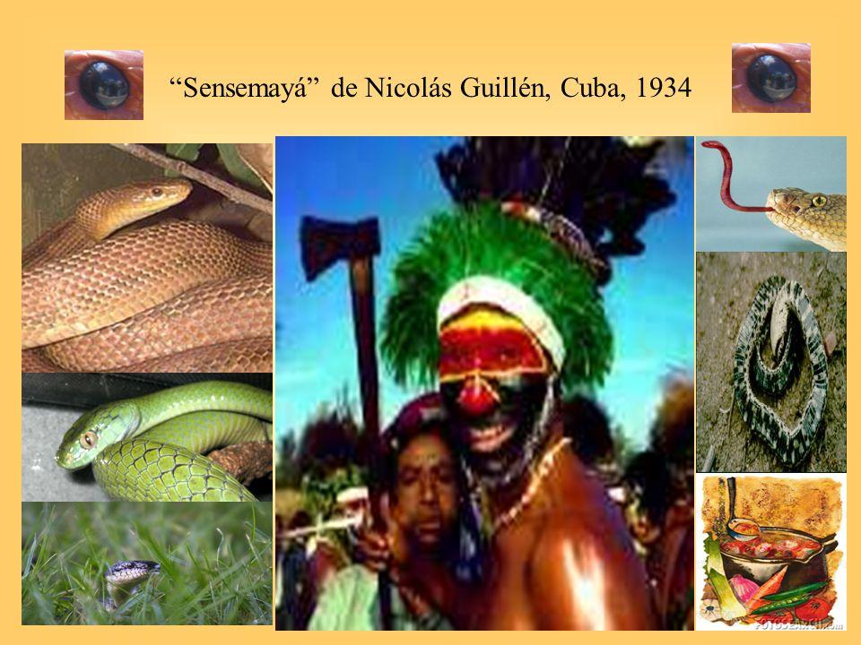 36 Sensemayá de Nicolás Guillén, Cuba, 1934