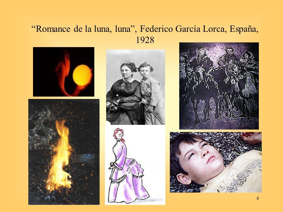 4 Romance de la luna, luna, Federico García Lorca, España, 1928