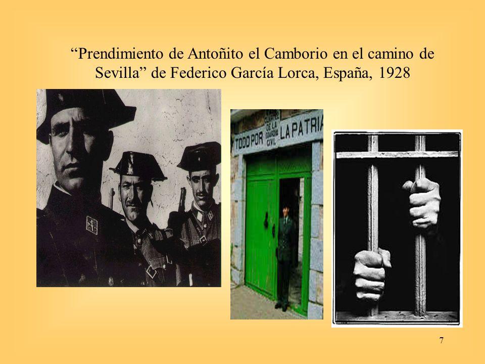 7 Prendimiento de Antoñito el Camborio en el camino de Sevilla de Federico García Lorca, España, 1928