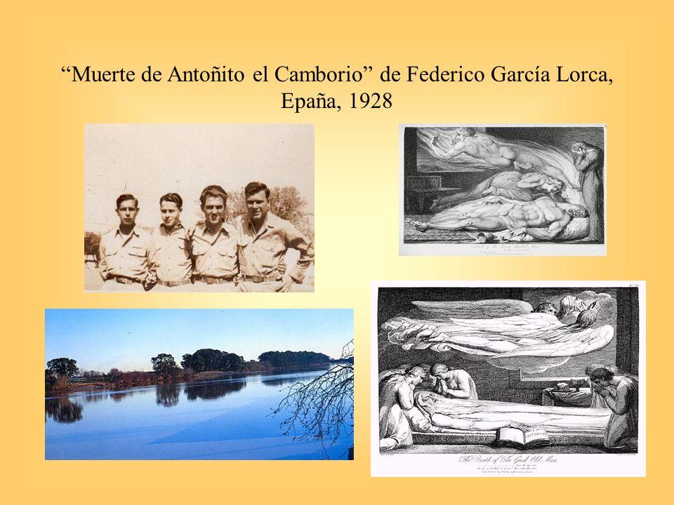8 Muerte de Antoñito el Camborio de Federico García Lorca, Epaña, 1928