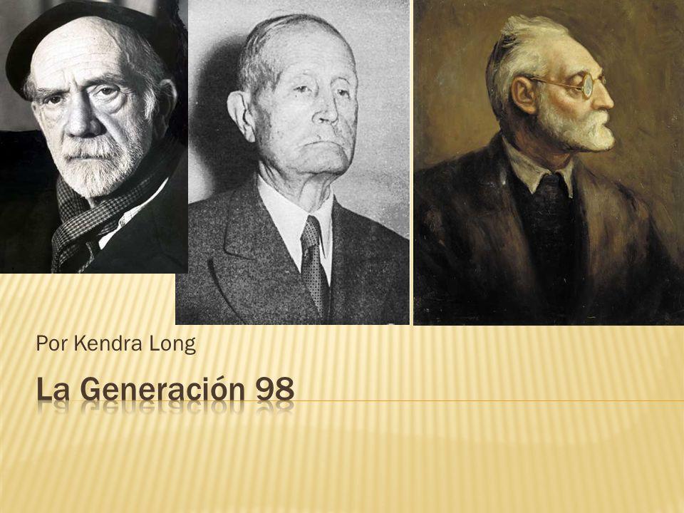 Empieza en 1898 y termina con la Guerra Civil de 1932 Era compuesto por escritores, artistas, arquitectos e intelectuales Miguel de Unamuno, Picasso y Antoni Gaudí eran algunos de los mas famosos de la generación.