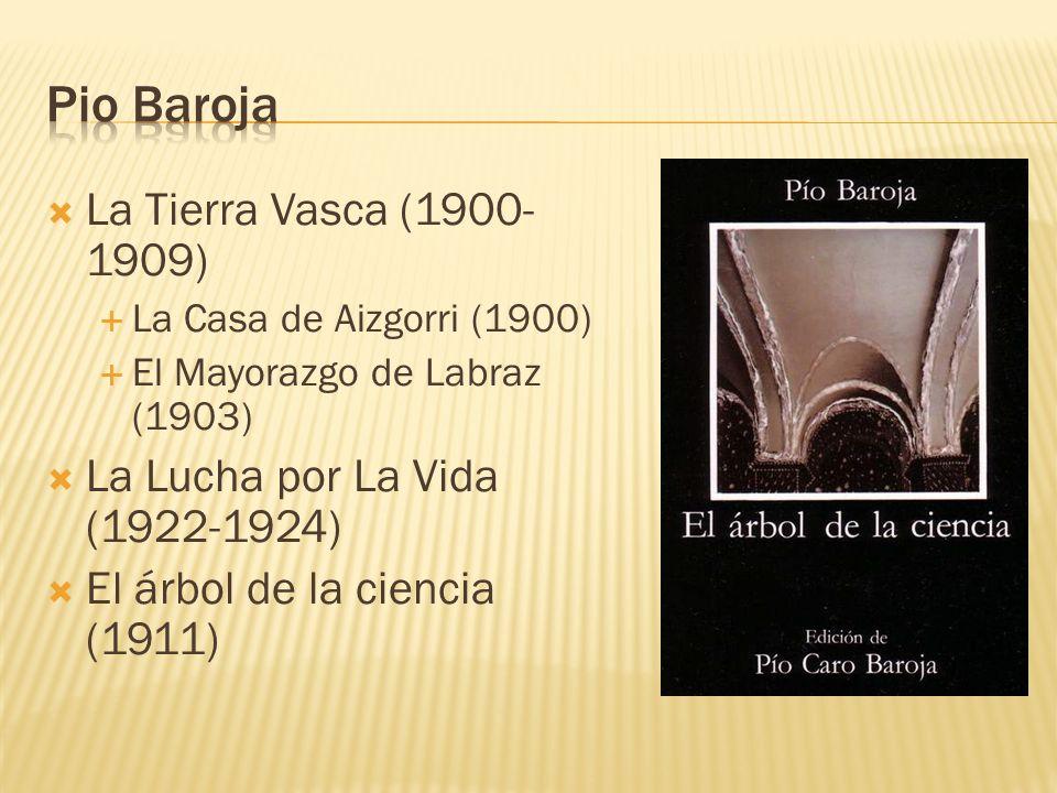 La Tierra Vasca (1900- 1909) La Casa de Aizgorri (1900) El Mayorazgo de Labraz (1903) La Lucha por La Vida (1922-1924) El árbol de la ciencia (1911)