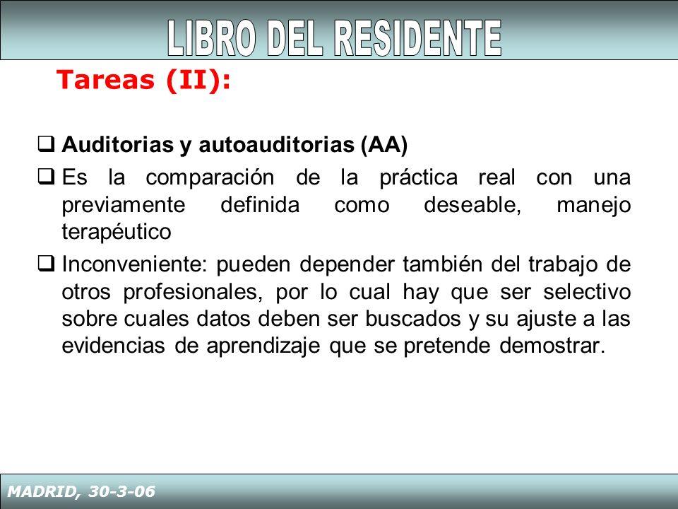 1º El R ha de presentar Una Sesión Clínica 2º El R elige el tema, la prepara y la Da en presencia o no de su tutor 3er.