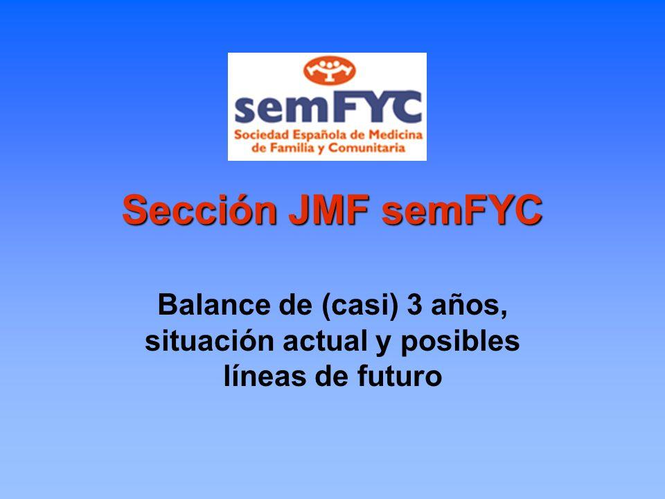 Sección JMF semFYC Balance de (casi) 3 años, situación actual y posibles líneas de futuro