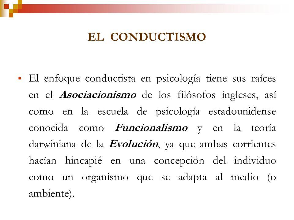 El Conductismo defiende el empleo de procedimientos estrictamente experimentales para estudiar el comportamiento observable (la conducta), considerand